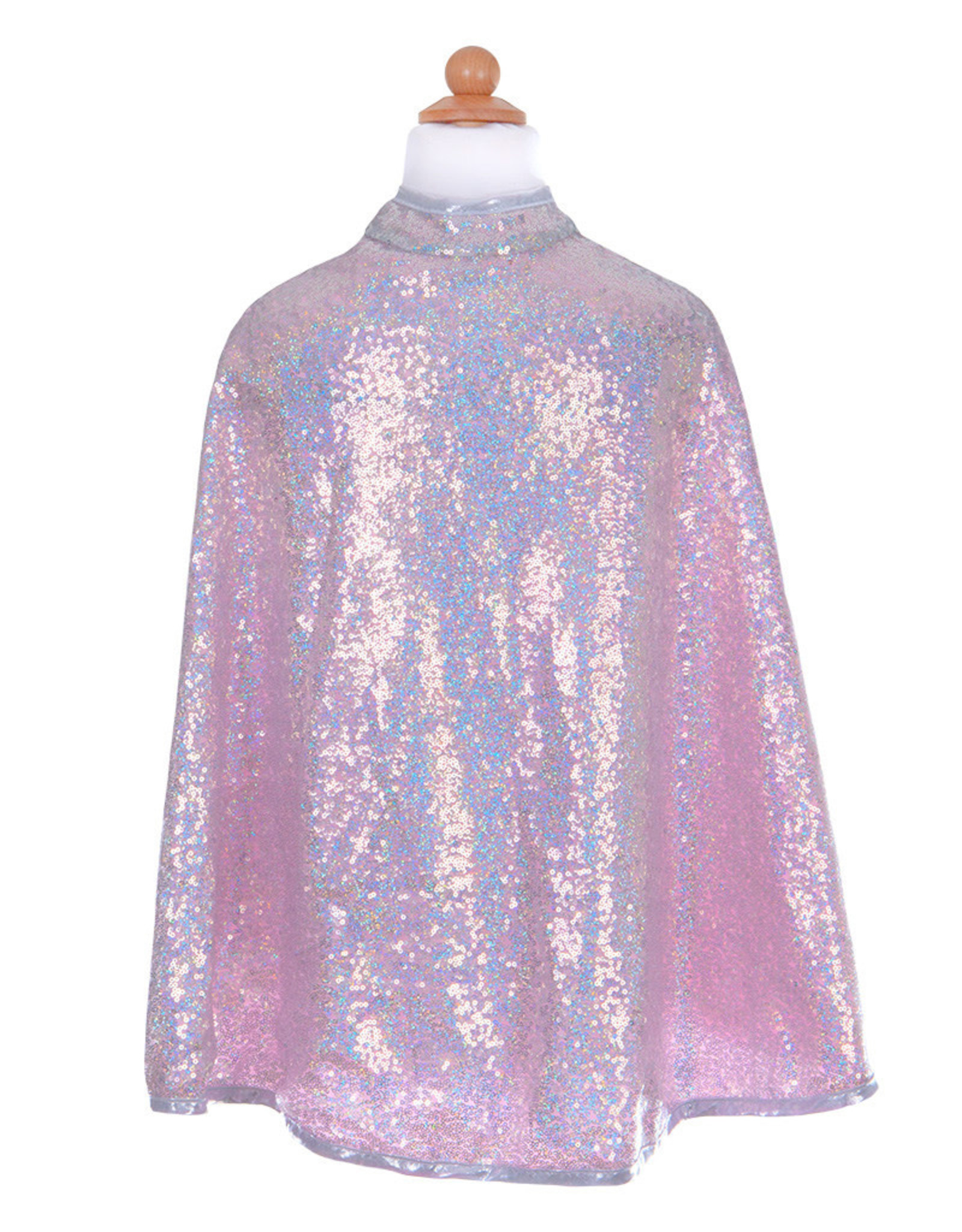 Great Pretenders Silver Sequins Cape, Size 3-4