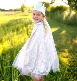 Great Pretenders Silver Sequins Cape, Size 5-6