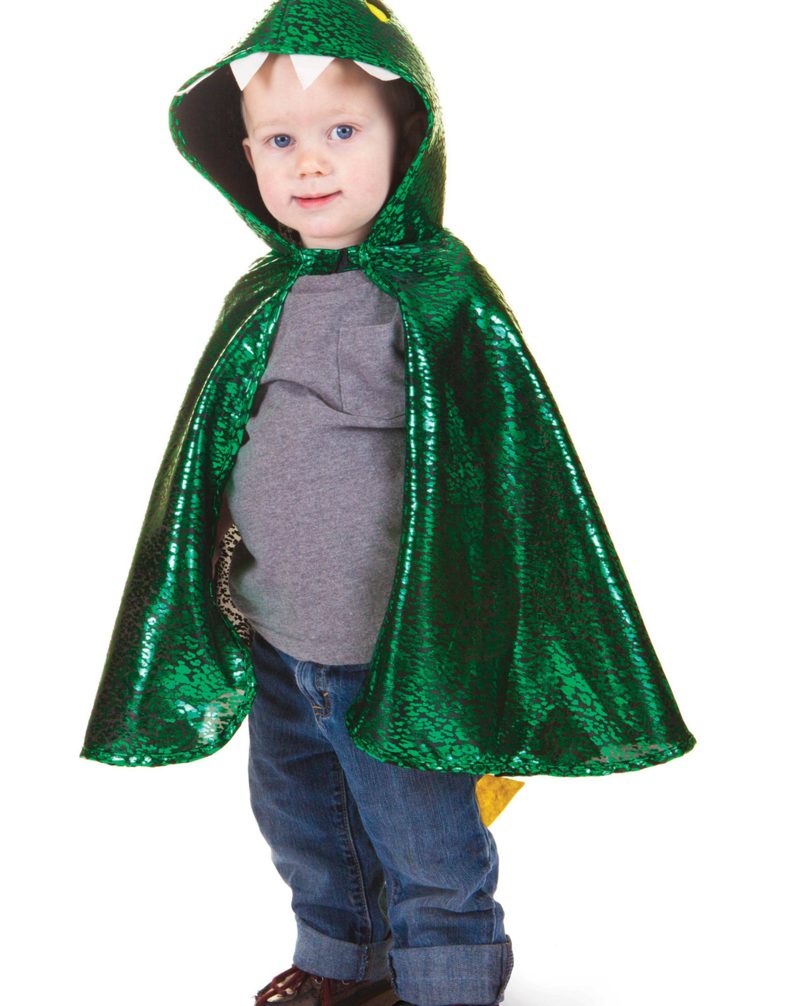 Great Pretenders Toddler Dragon Cape, Green, Size 2-3