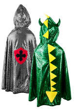 Great Pretenders Reversible Dragon / Knight Cape, Size 5-6