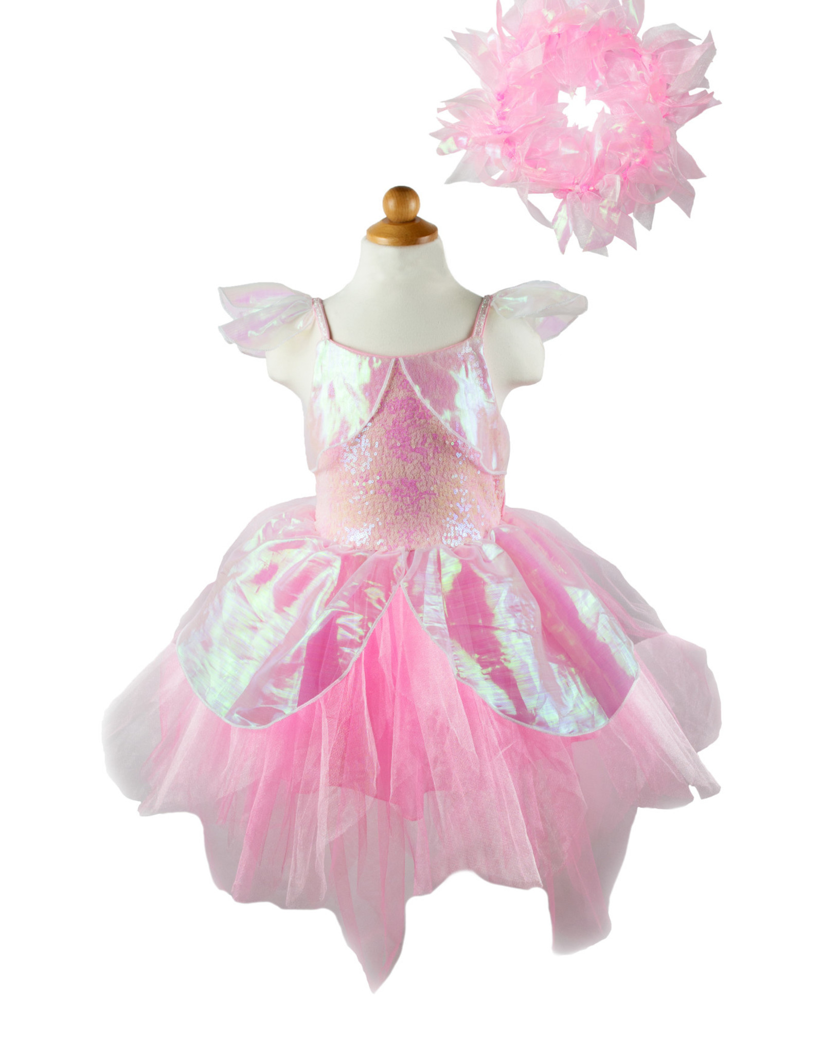 Great Pretenders Iridescent Fairy Dress with Halo, Size 5-6