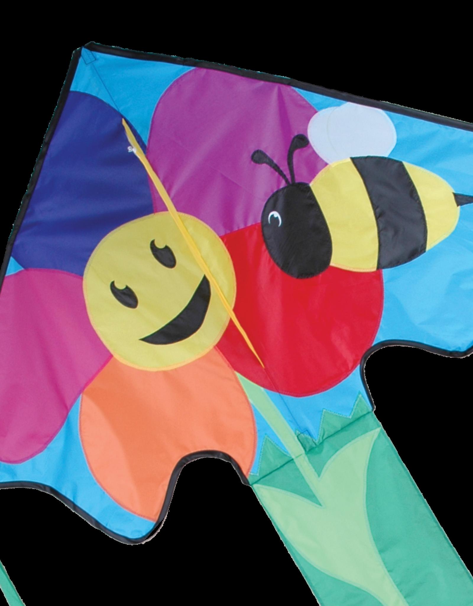 Premier Kites Large Easy Flyer Kite - Bee & Flower