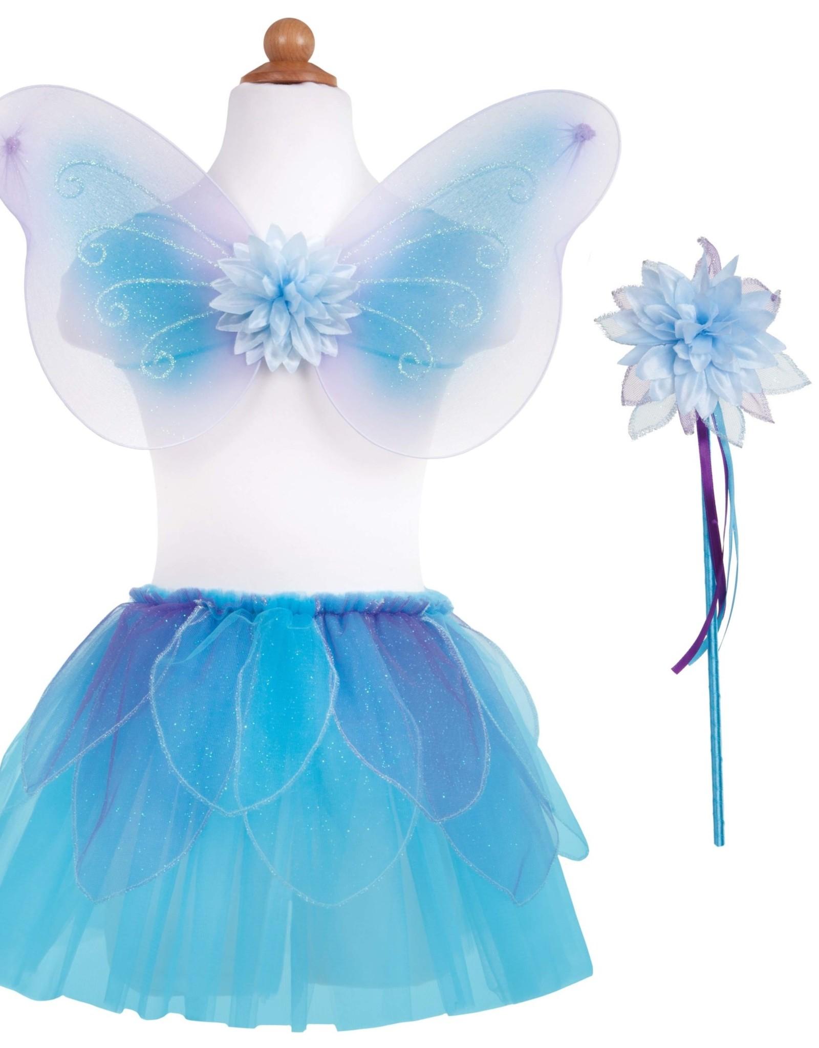 Great Pretenders Fancy Flutter Skirt with Wings & Wand - Blue