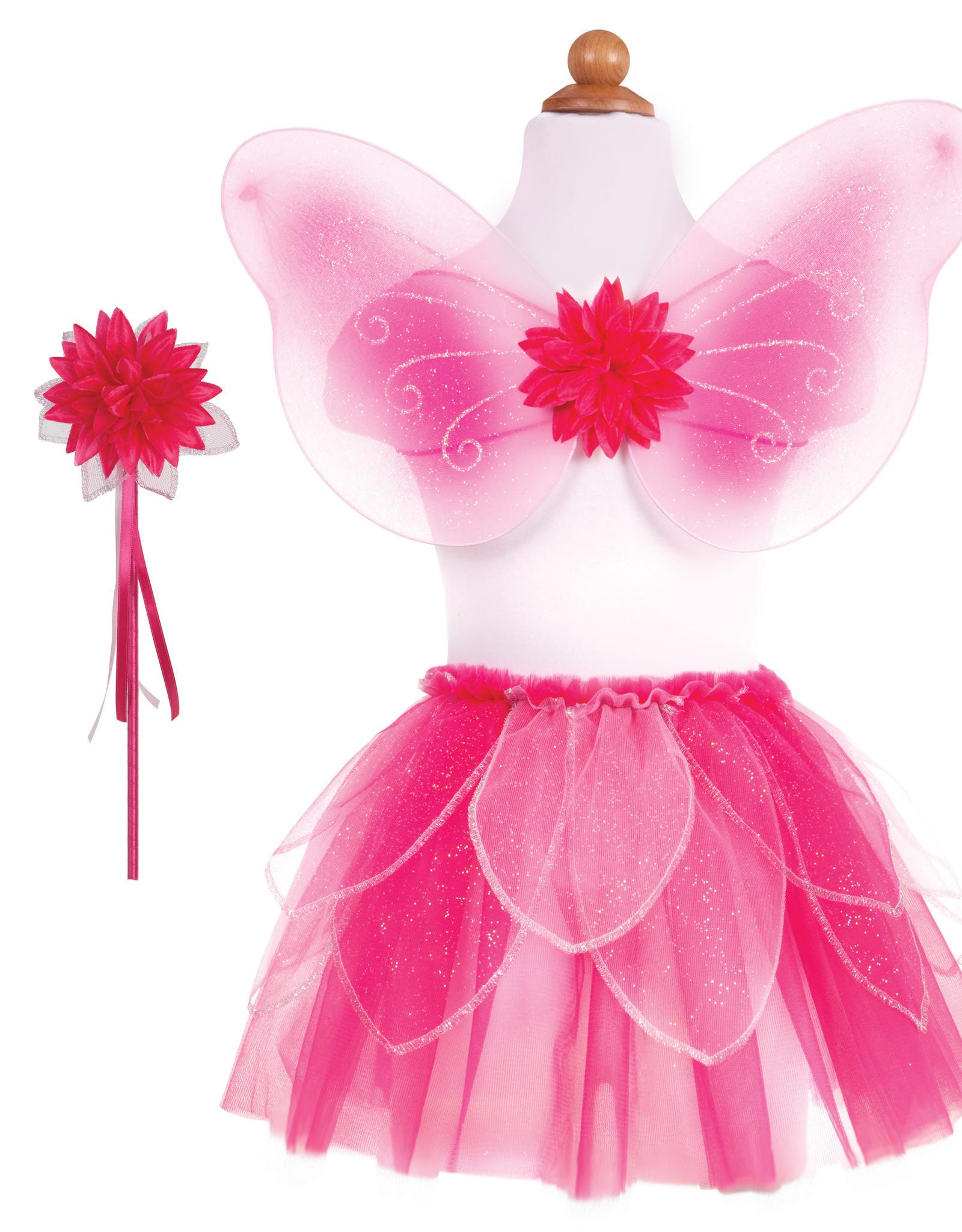 Great Pretenders Fancy Flutter Skirt with Wings & Wand - Pink