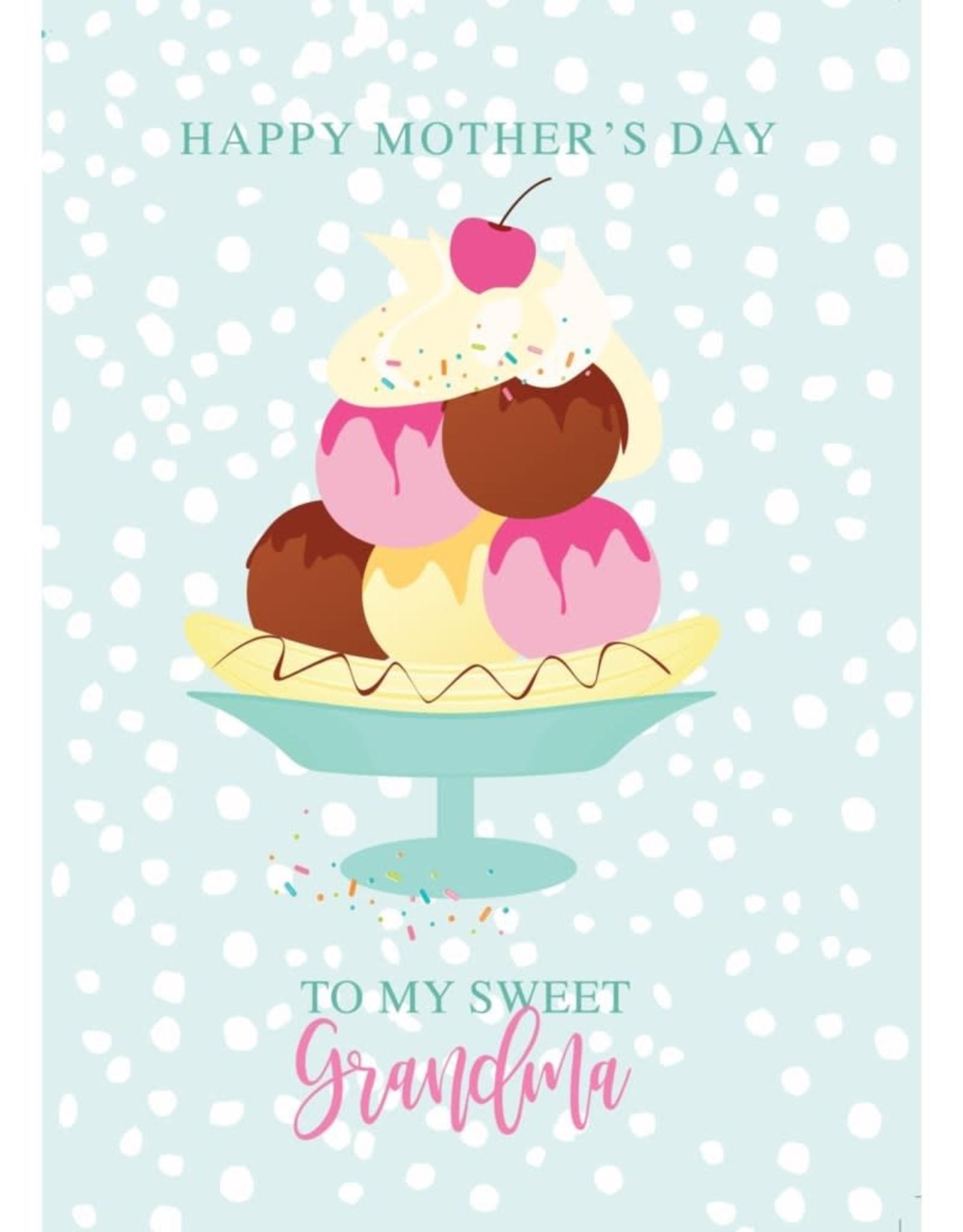 Card - Ice Cream Bowl Grandma