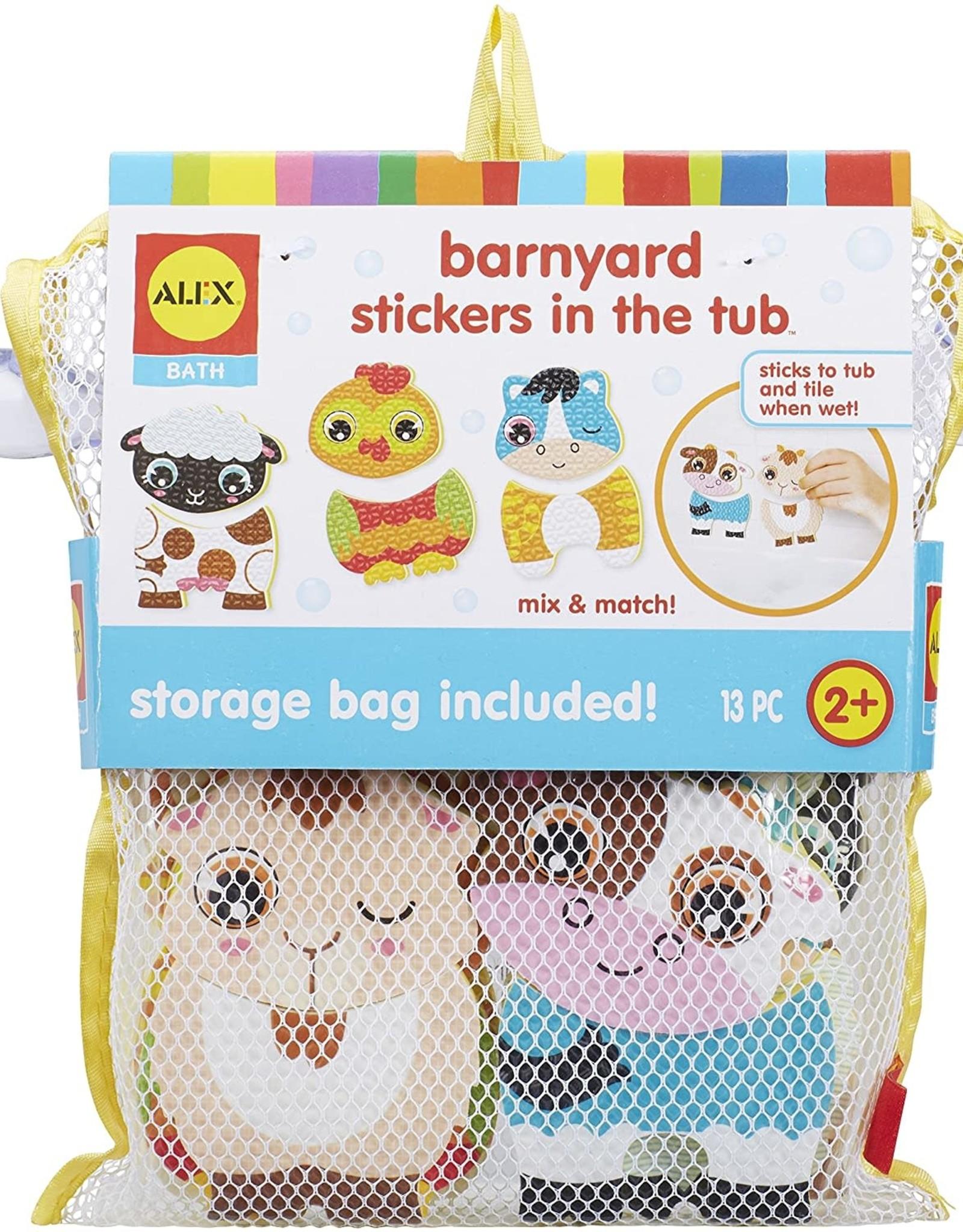 Alex Brands Bath Barnyard Stickers in the Tub