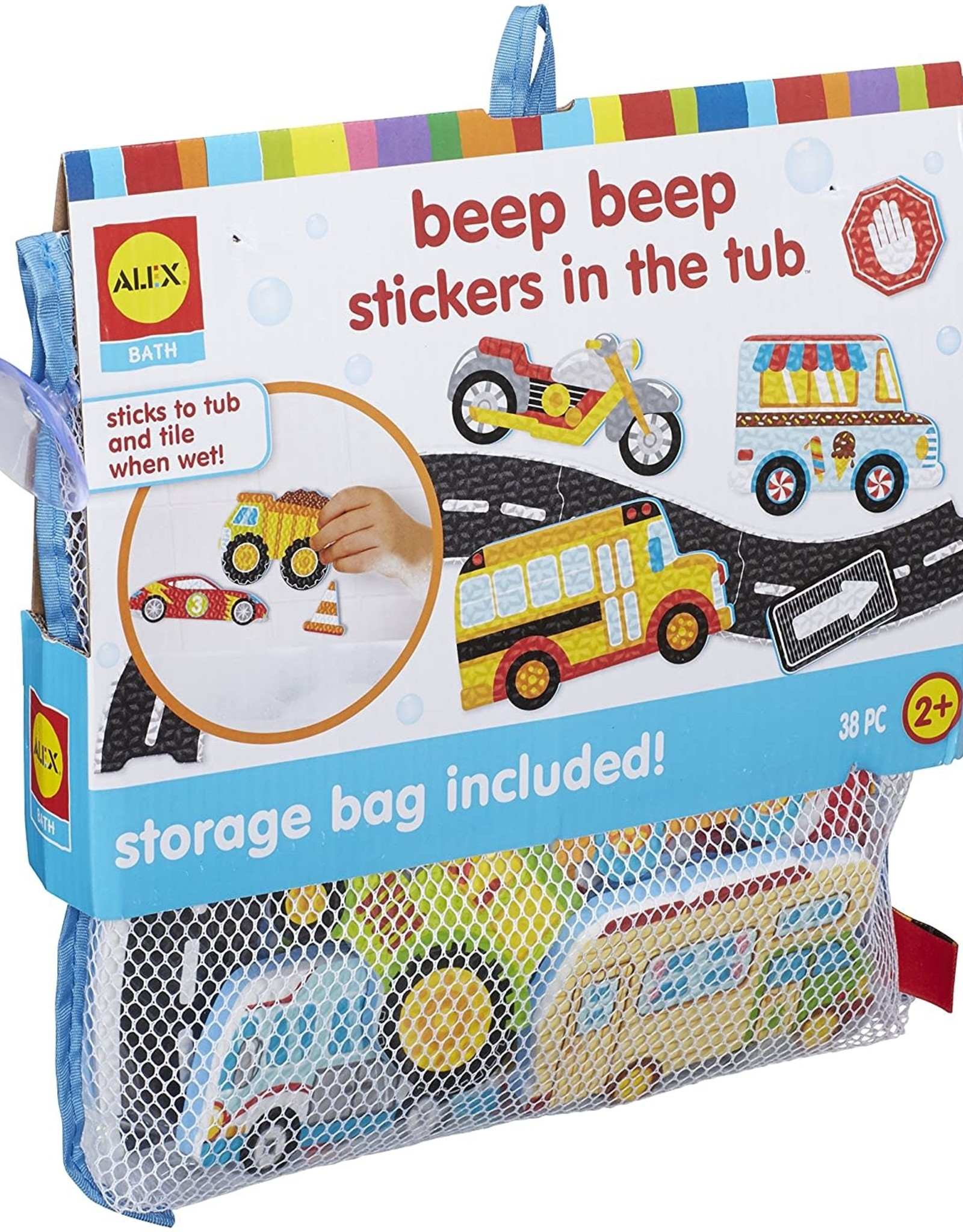 Alex Brands Beep Beep Stickers in the Tub