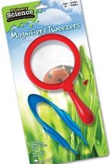 Learning Resources Jumbo Magnifier & Tweezers