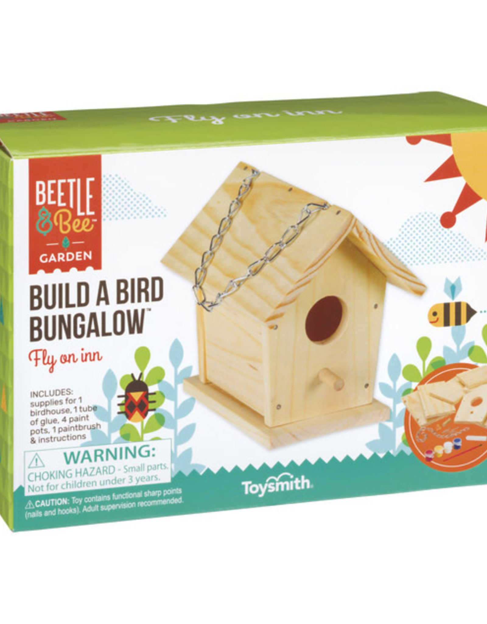Toysmith Build and Paint a Bird Bungalow