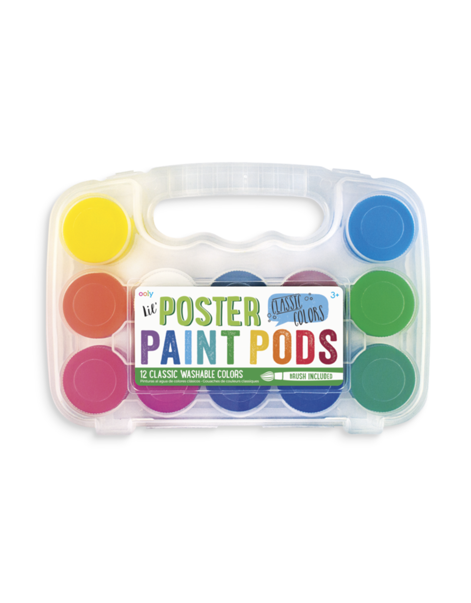 Ooly Lil' Poster Paint Pods - Classic Colors