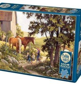 Cobble Hill Puzzles Summer Horses - 500 pc Puzzle
