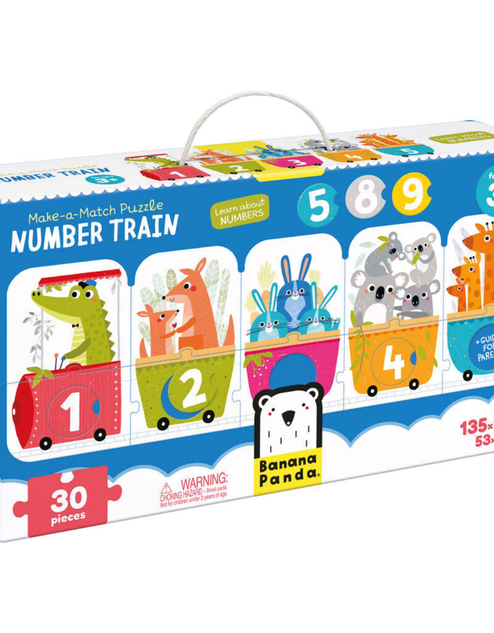 Banana Panda Make a Match Number Train Puzzle