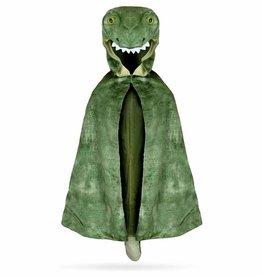Great Pretenders T-Rex Hooded Cape, Green, Size 4-5