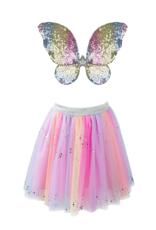 Great Pretenders Rainbow Sequins Skirt / Wings / Wand