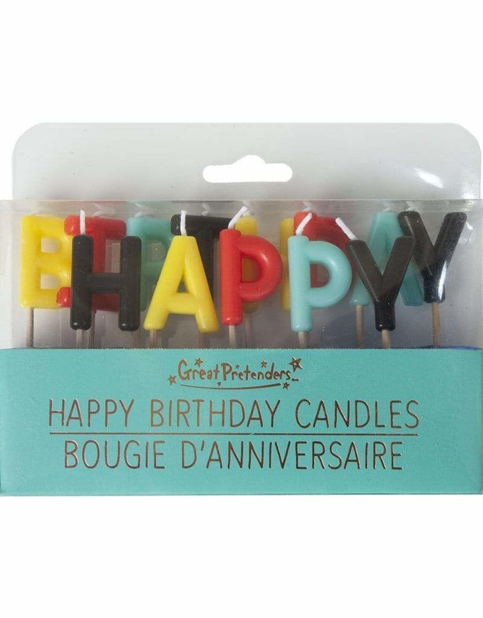 Great Pretenders Happy Birthday Candles - Multicoloured