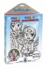 Great Pretenders Colour-A-Puppet Careers