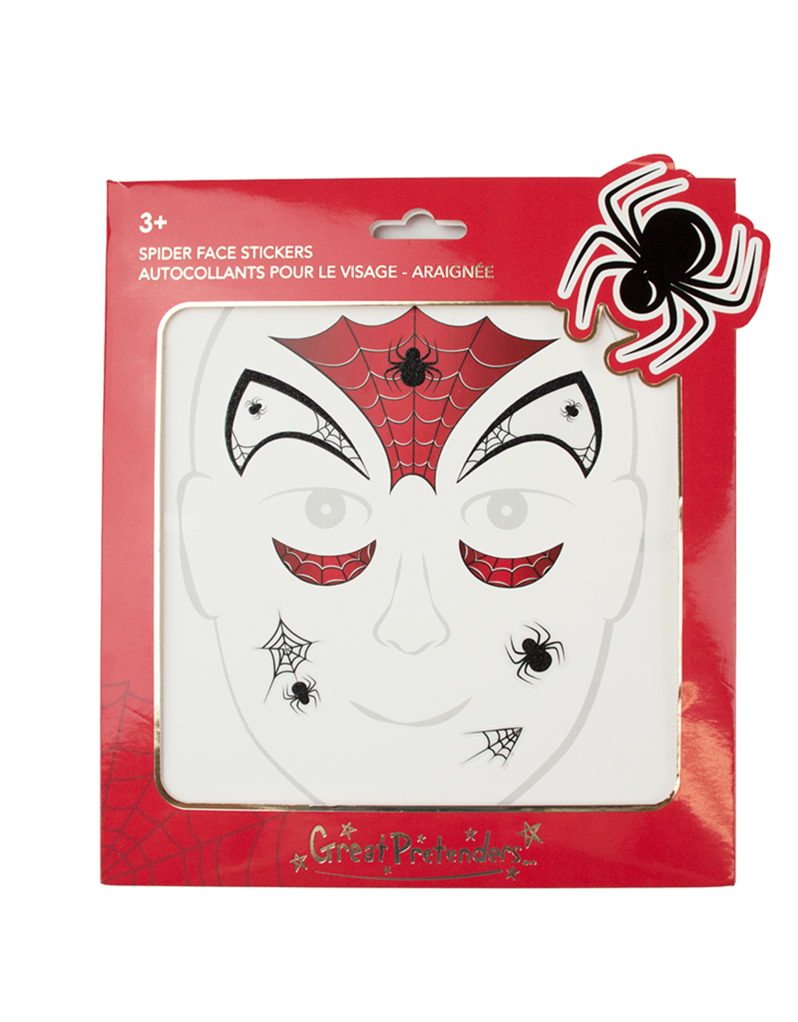 Great Pretenders Spider Face Stickers