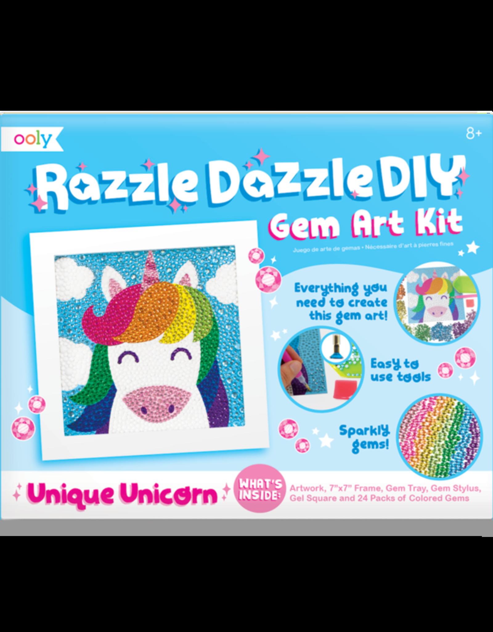 Ooly Razzle Dazzle DIY Gem Art Kit - Unique Unicorn