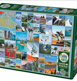 Cobble Hill Puzzles National Parks and Reserves of Canada 1,000 piece Puzzle