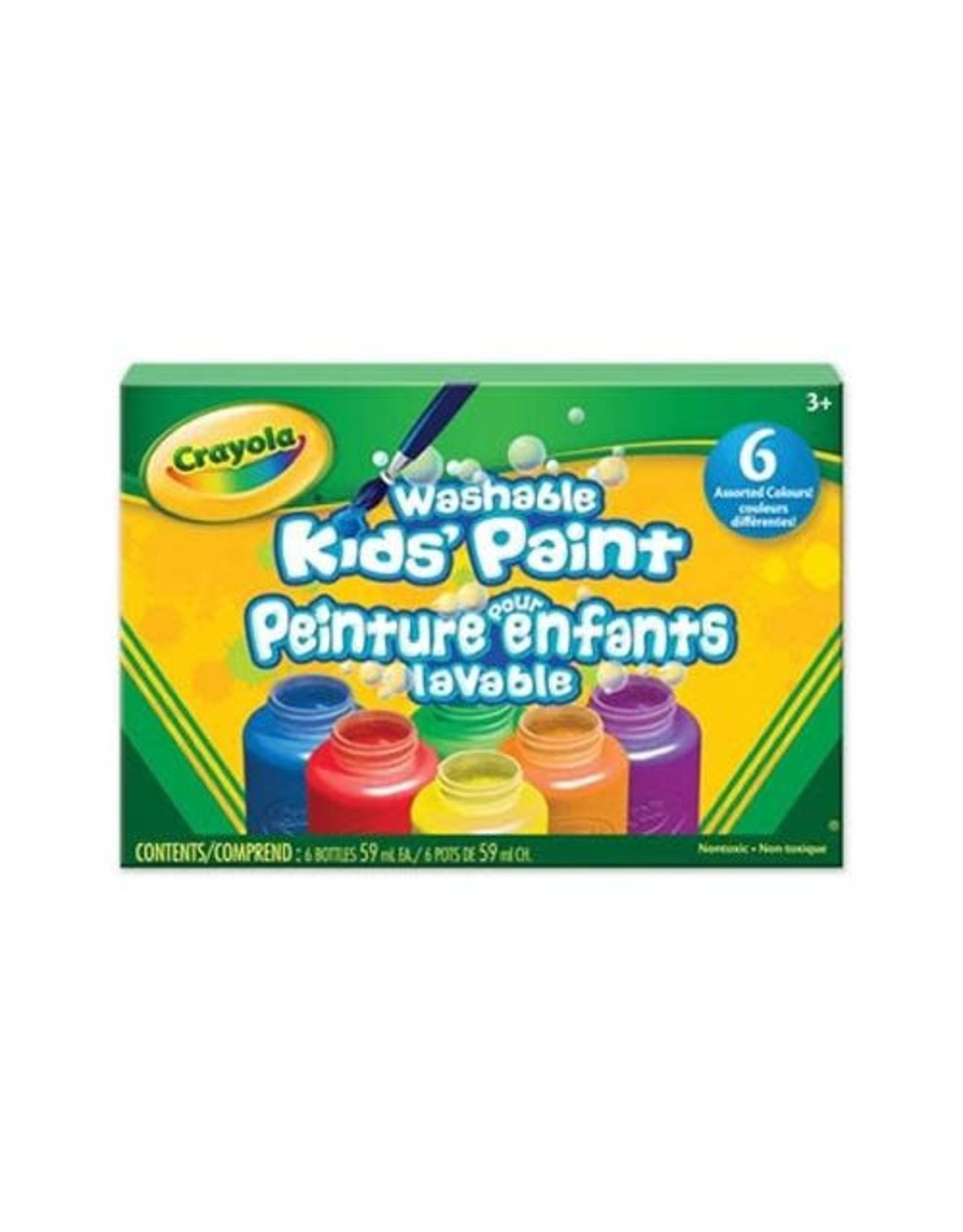 Crayola Washable Paint Jars 6 Pack, 2 oz
