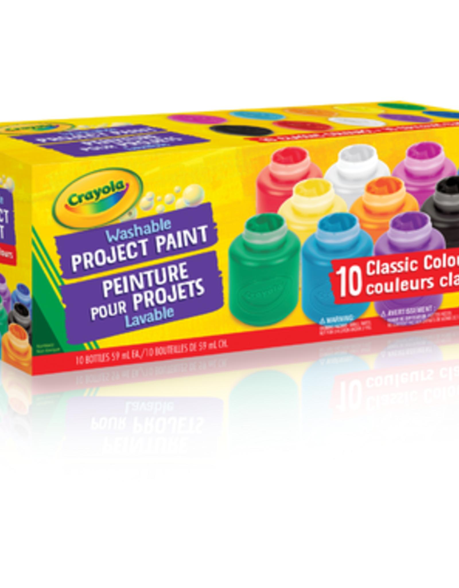 Crayola Washable Paint Jars, 10 Piece, 2 oz