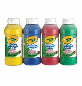 Crayola Washable Paints, 4-pack, 237 mL