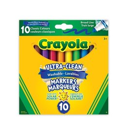 Crayola Ultra-Clean Washable Broad Line Markers, 10 ct