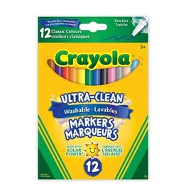 Crayola Ultra-Clean Washable Fine Line Markers, 12 ct.