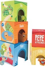 Hape Toys Pepe & Friends Friendship Tower Stacking Blocks