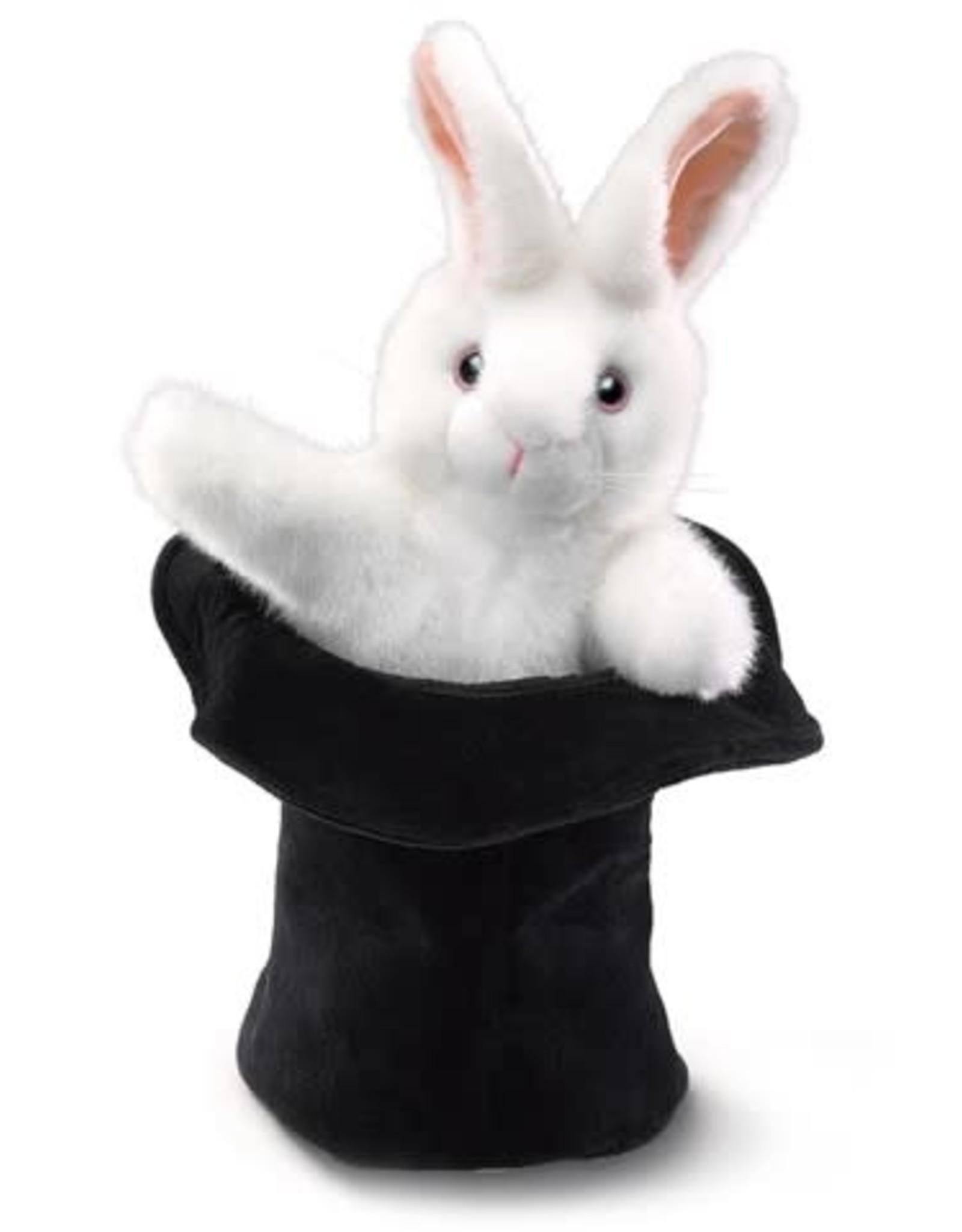 Folkmanis Folkmanis Rabbit In A Hat Puppet