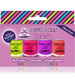 Piggy Paint Piggy Paint - 4 Pack Mini NEON Polish Set