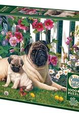 Cobble Hill Puzzles Pug Family - 1,000 piece puzzle