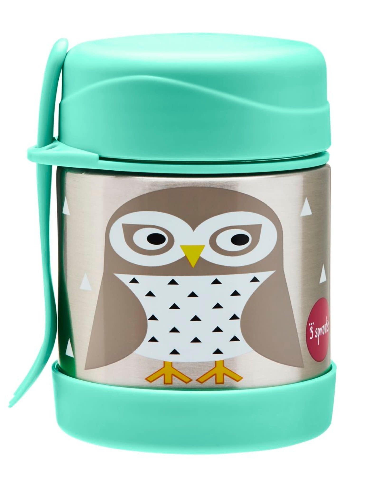 3 Sprouts Stainless Steel Food Jar - Owl