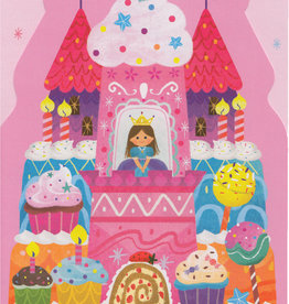 Peaceable Kingdom Princess Castle Cake Die-Cut Birthday Card