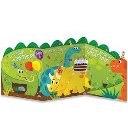 Peaceable Kingdom Dino Tri-Fold Card