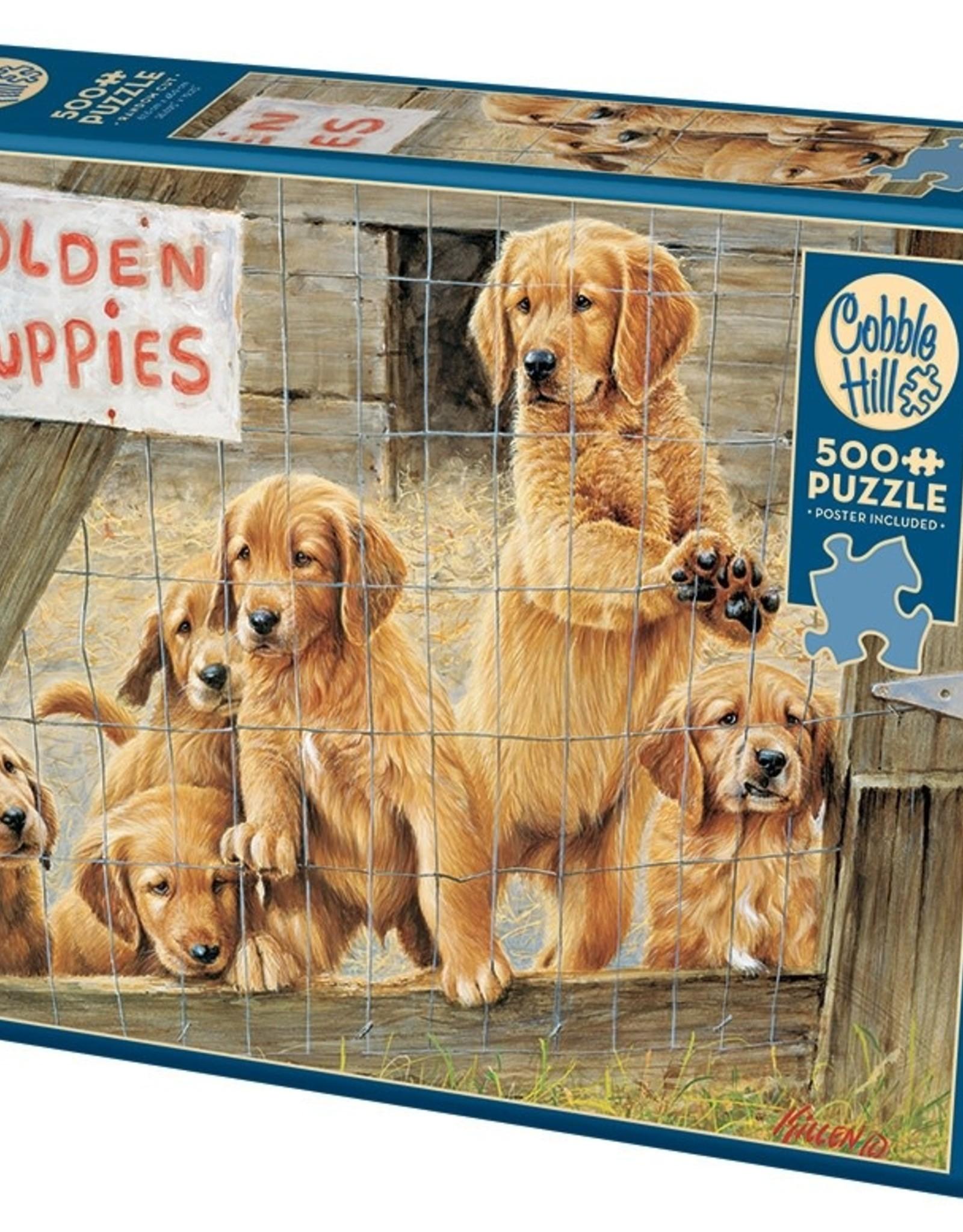 Cobble Hill Puzzles Golden Puppies - 500 pc Puzzle