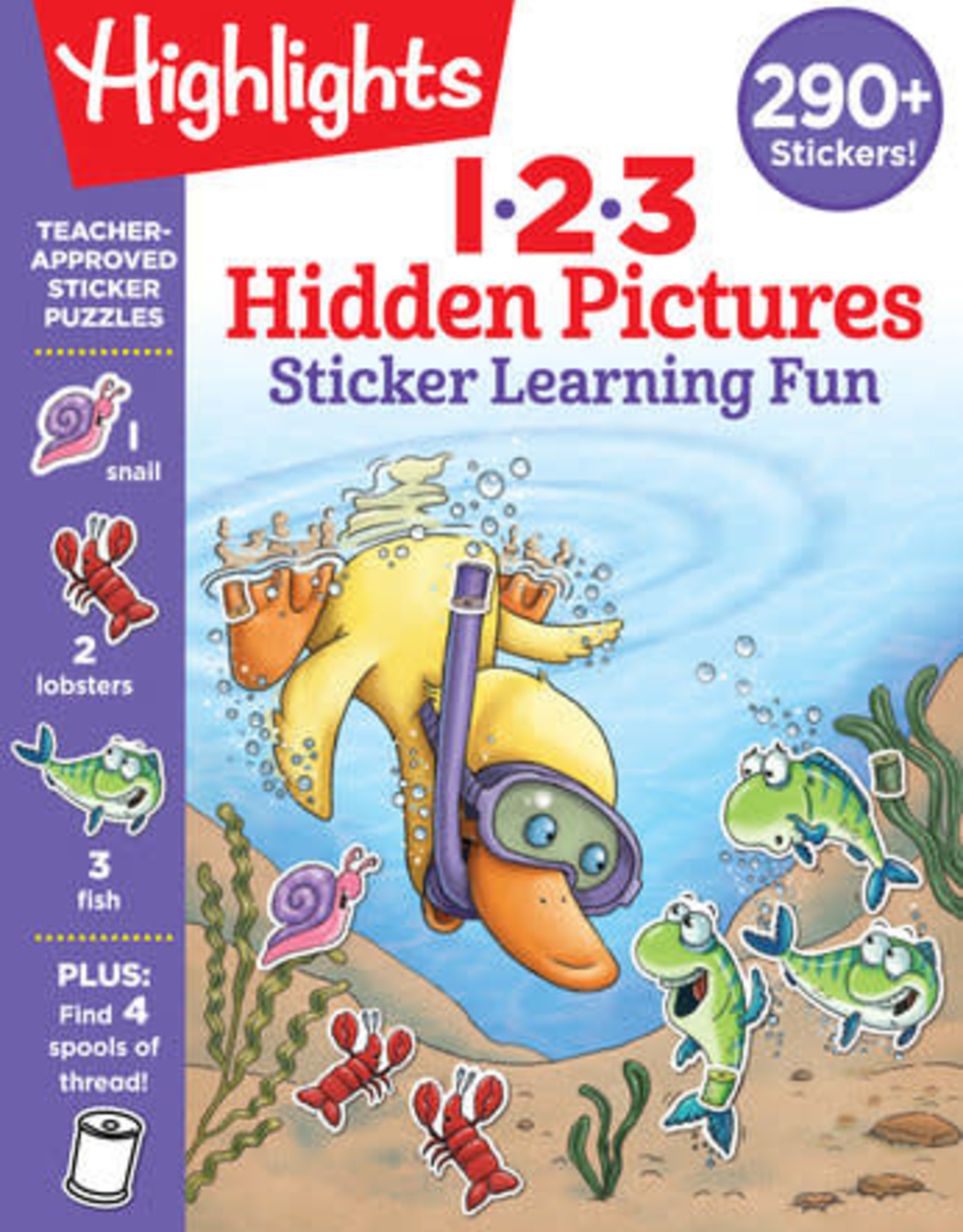 Highlights 123 Hidden Pictures Sticker Learning Fun
