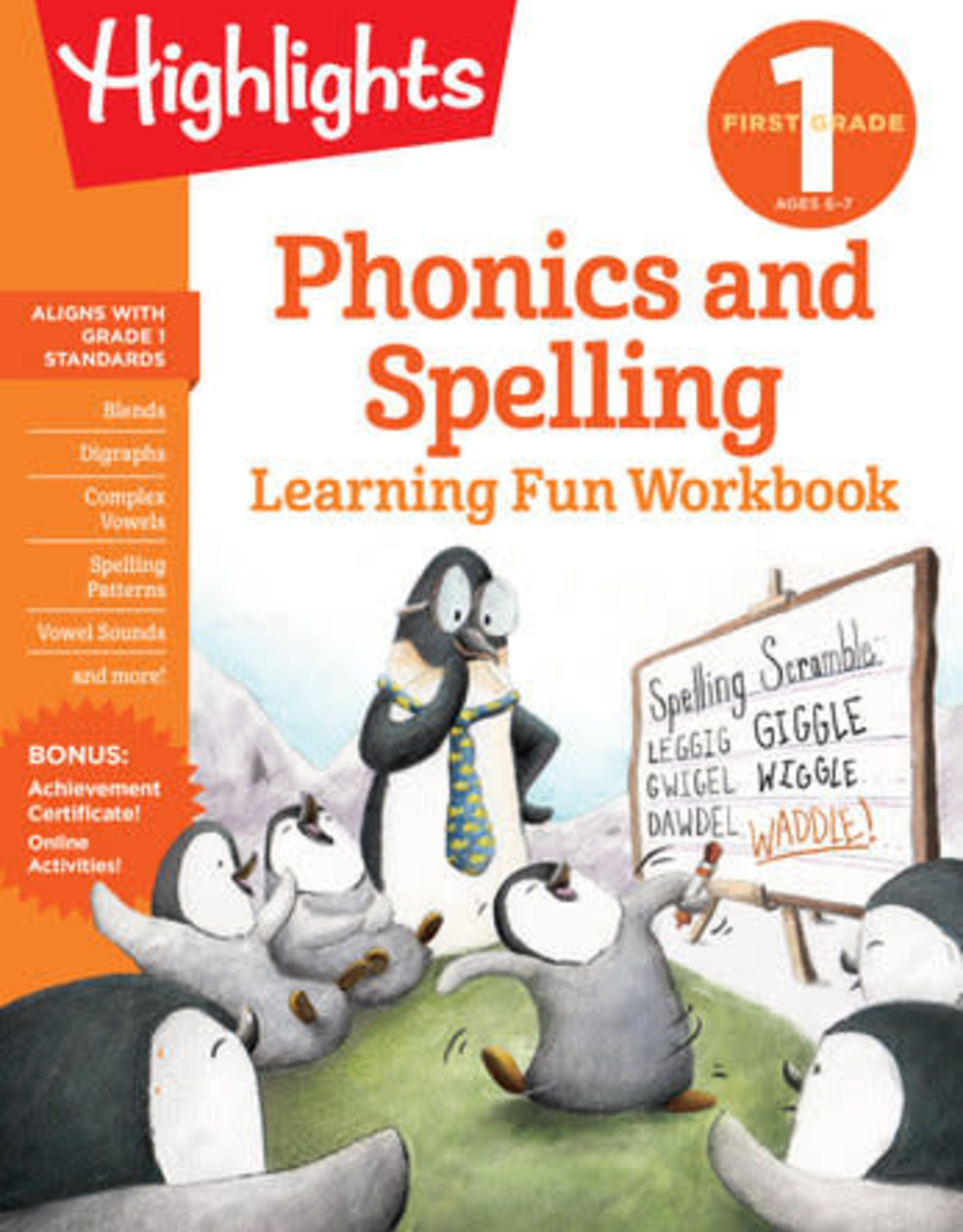 Highlights First Grade Phonics and Spelling