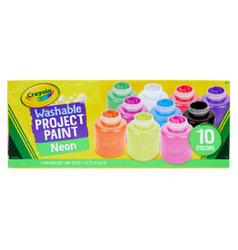 Crayola Washable Paint Jars 2 oz, 10 pack, Neon