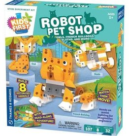 Thames & Kosmos Kids First Robot Pet Shop: Owls, Hedgehogs, Sloths, & More!