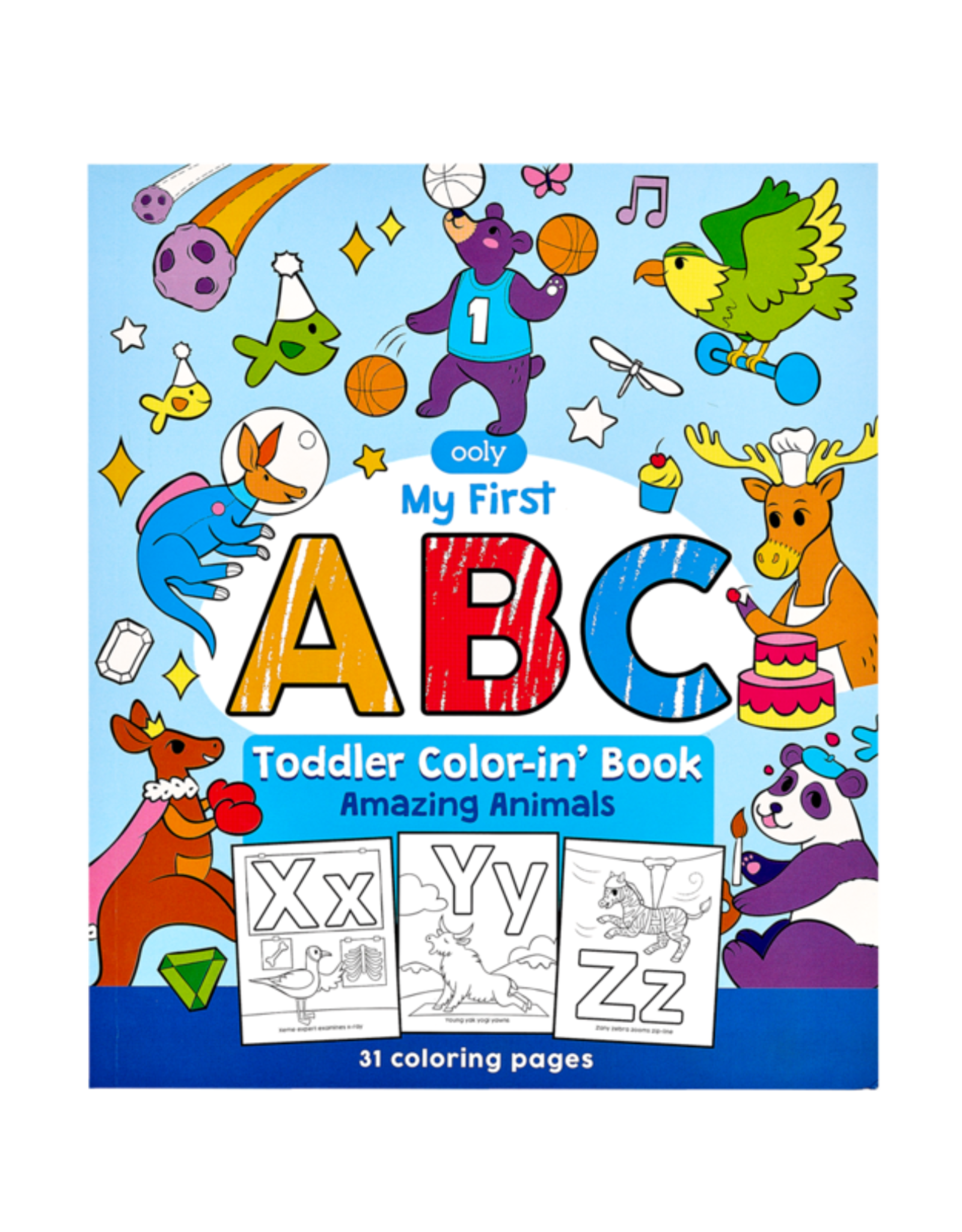 Ooly ABC Amazing Animals Toddler Colour-In Book