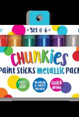 Ooly Chunkies Paint Sticks - Metallic - Set of 6