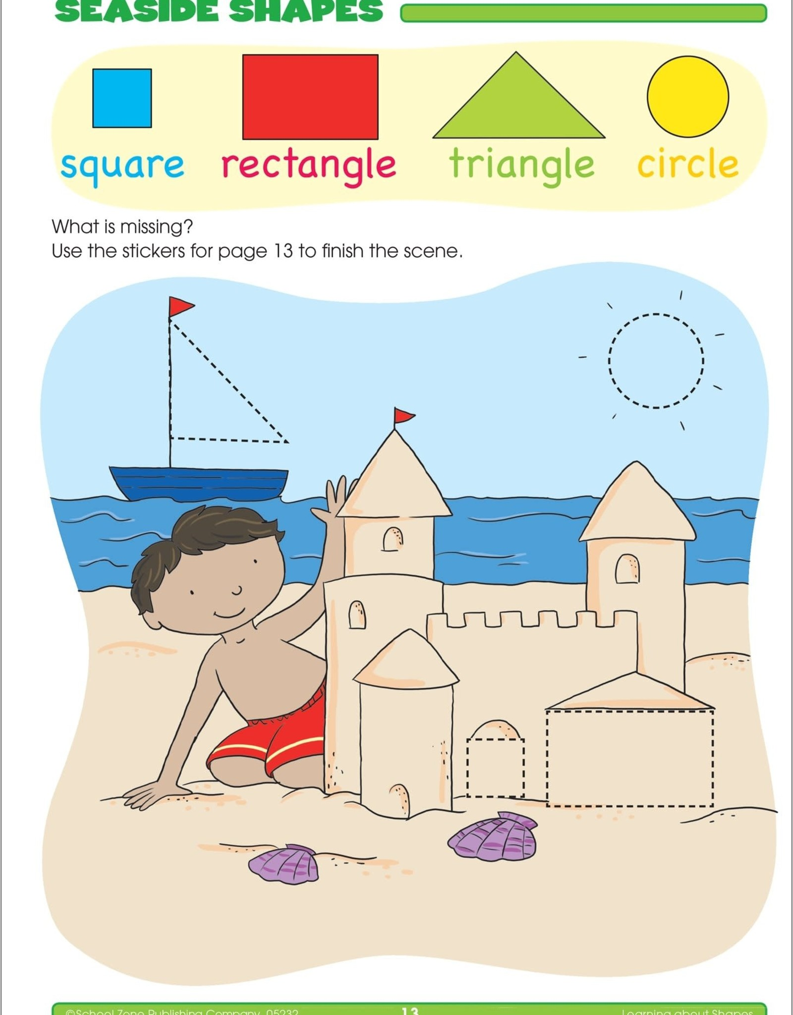 School Zone Preschool Stickers Workbook