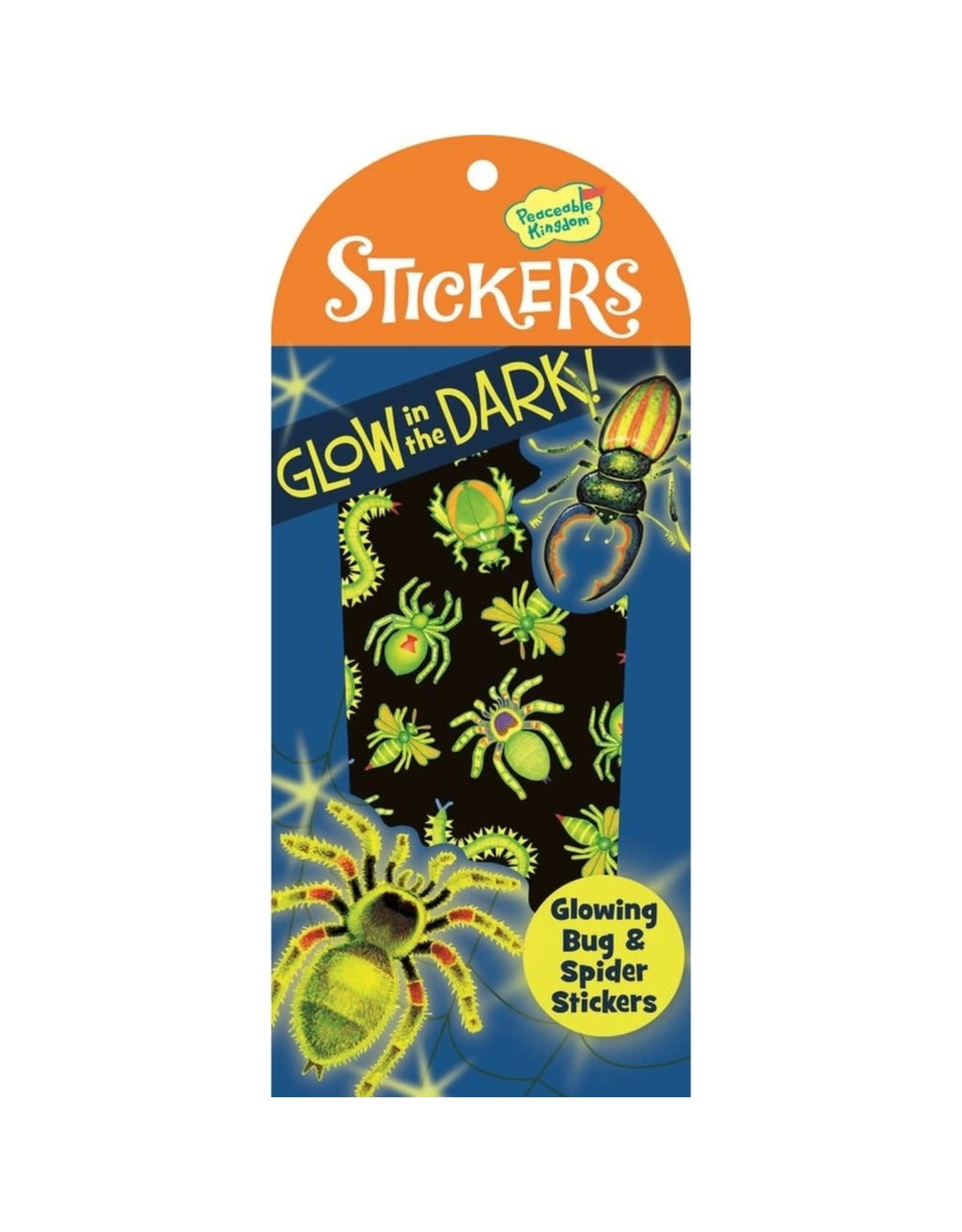 Peaceable Kingdom Bug & Spider Glow in the Dark Stickers