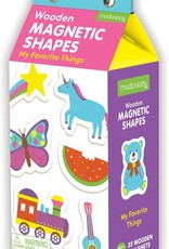 Mudpuppy My Favourite Things Wooden Magnetic Shapes