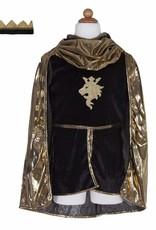 Great Pretenders Gold Knight Tunic Cape & Crown - Size 5-6