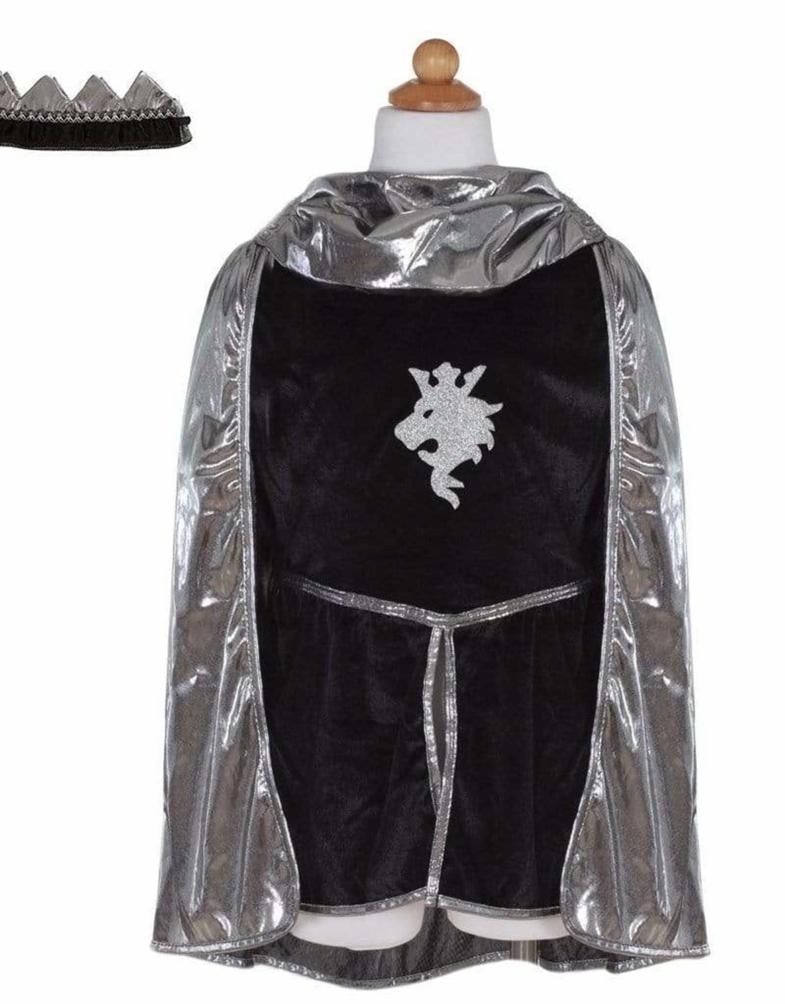 Great Pretenders Silver Knight Tunic Cape & Crown - Size 5-6