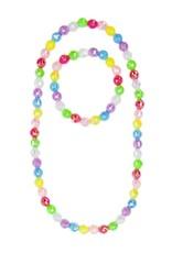 Great Pretenders Color Me Rainbow Necklace & Bracelet Set