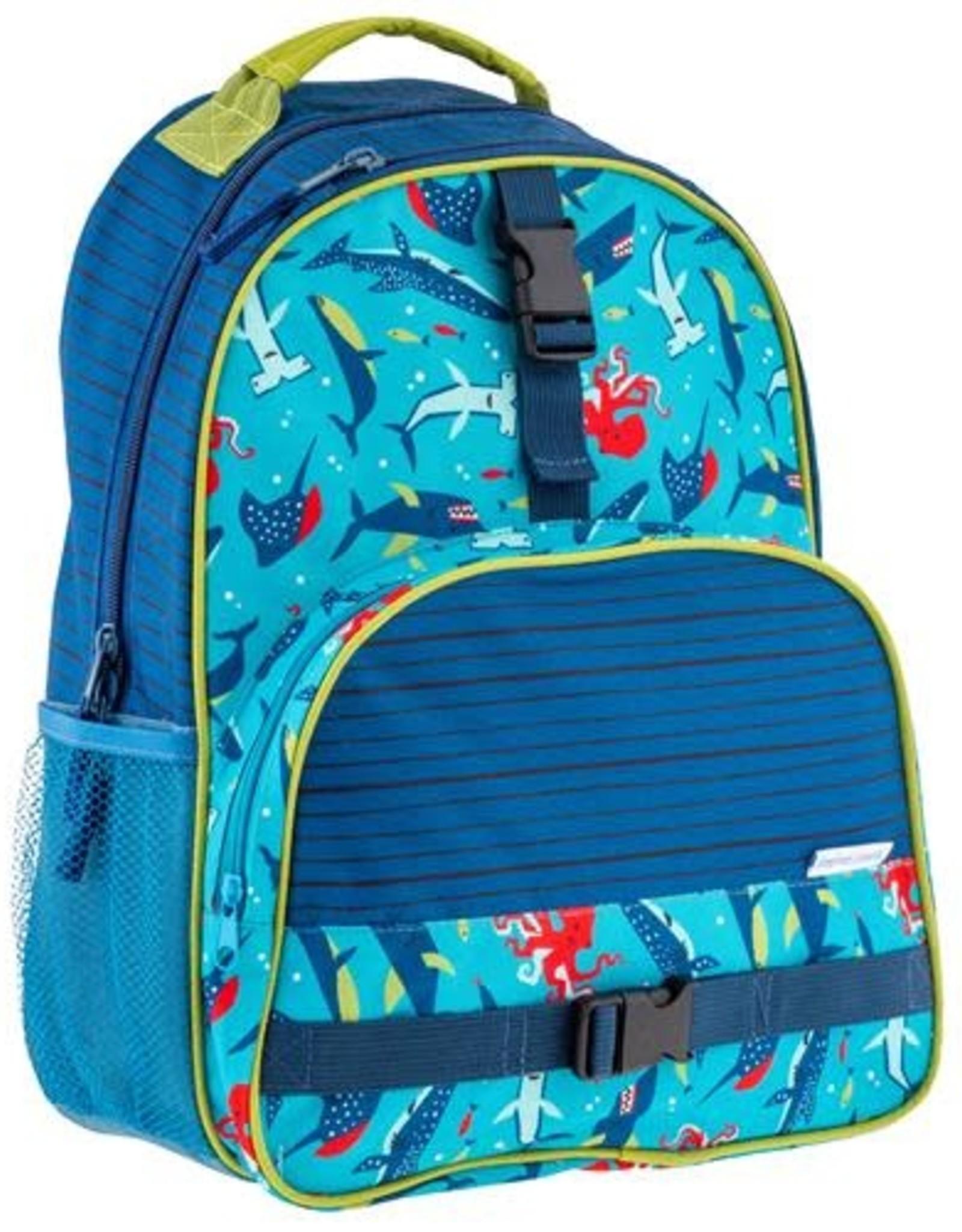 Stephen Joseph All Over Print Backpack Sharks