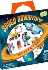 Peaceable Kingdom Reusable Sticker Tote: Space Adventure
